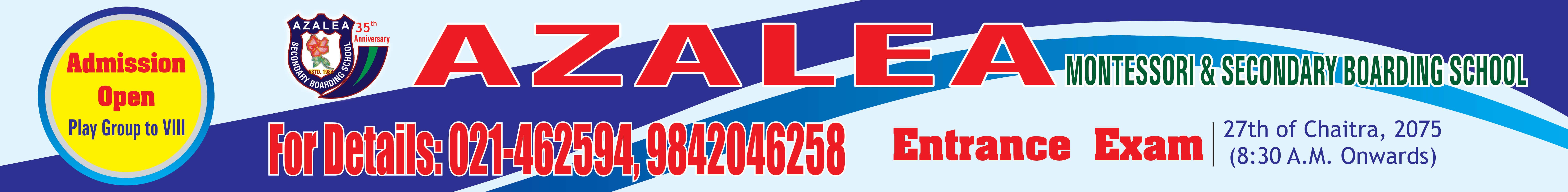 Azalea Admission Open